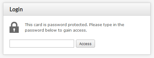 Password Protected vCard